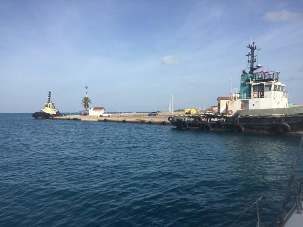 Aruba customs and immigration dock
