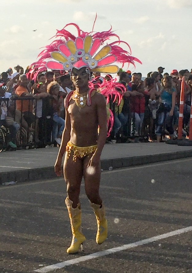 He danced his way across Cartagena in those heels.
