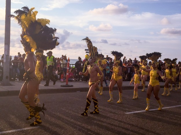 So many bright and beautiful costumes. Loved the yellow.