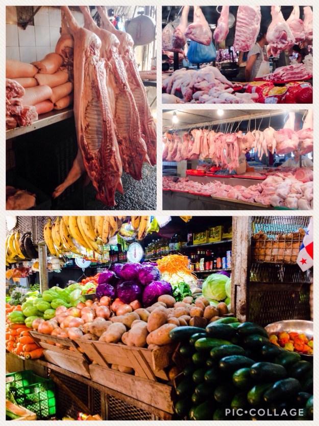 Fresh market in Colon, Panama