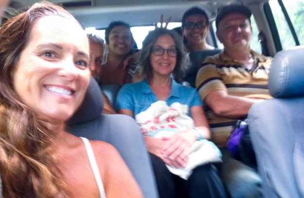 Six passengers in the 4x4 ride to Panama City