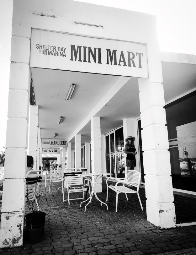 Mini market, chandlery, gym at Shelter Bay Marina.