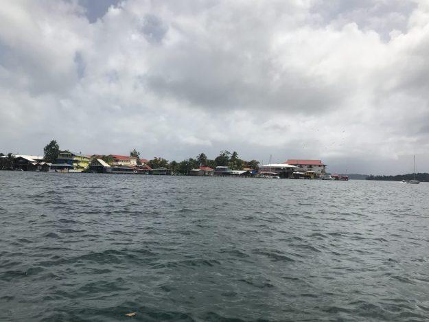 Bocas Town waterfront view.