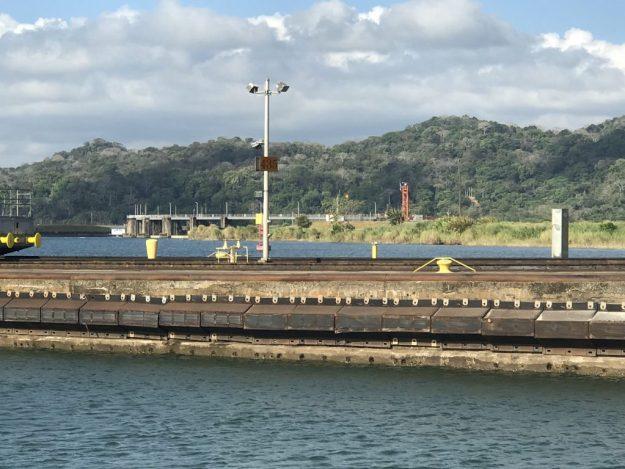 Gatun damn view from the Panama Canal