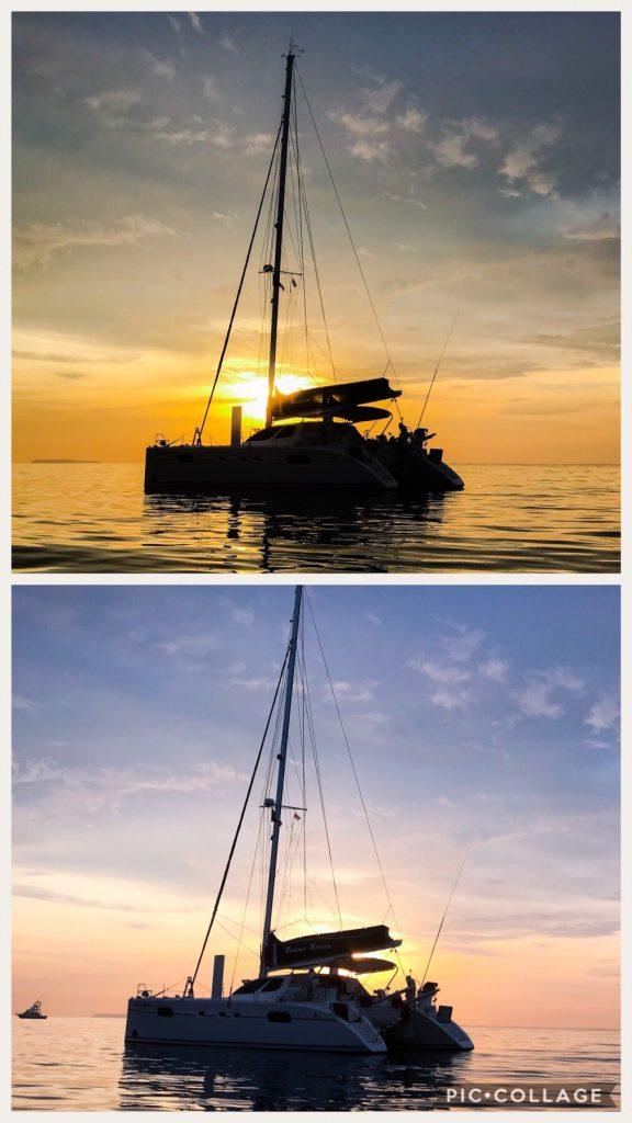 Beautiful sunset at Bahia Drake