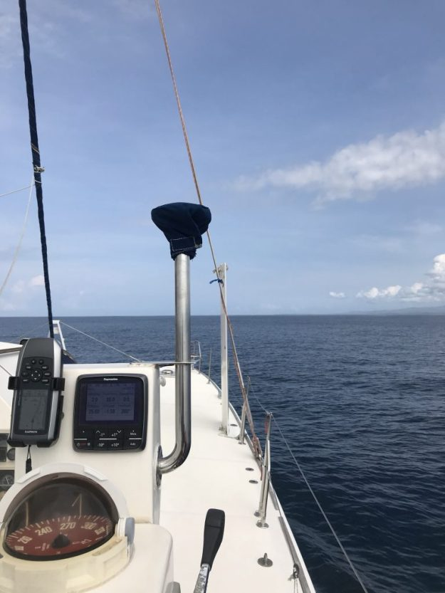 Sugar Shack Motoring Along in Flat Seas