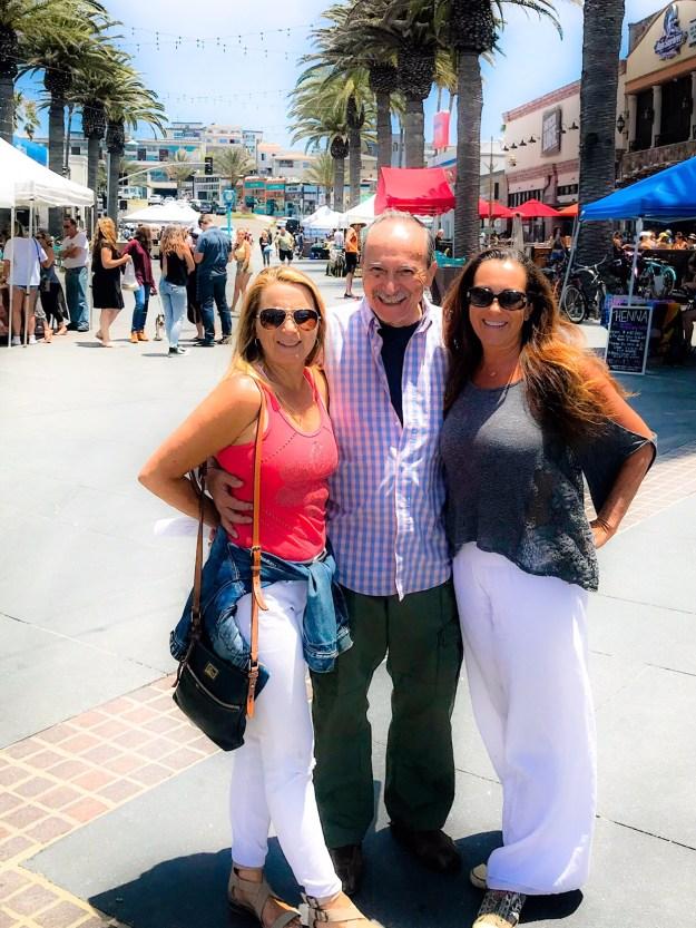 Dad, Kimberly and I at Hermosa Fresh Market