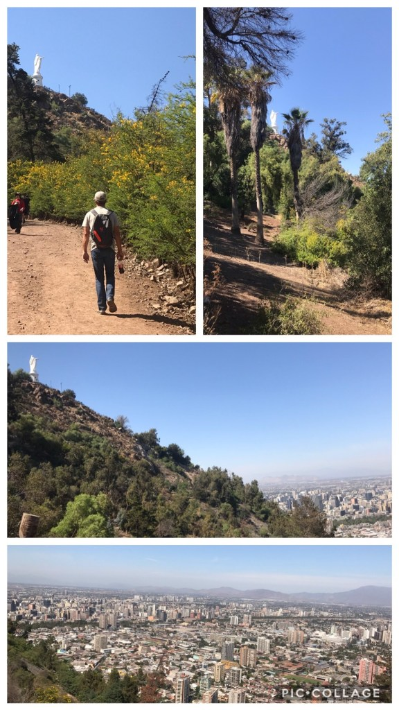 Walking up Cerro San Cristobal