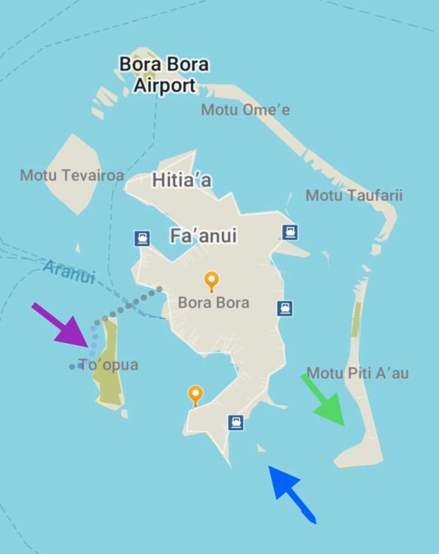 Map of Bora Bora