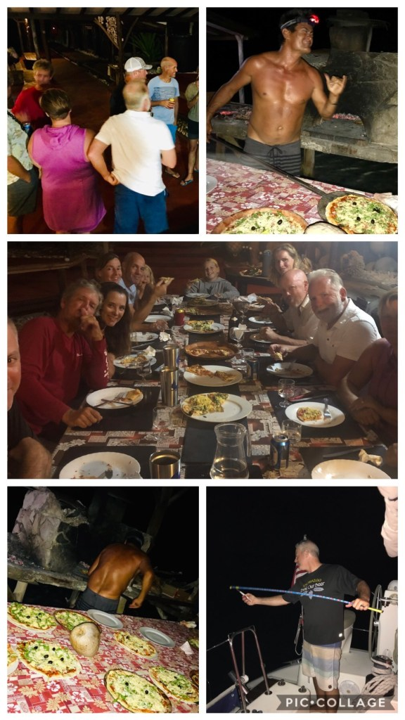 Pizza night at Motu Aito Paradise