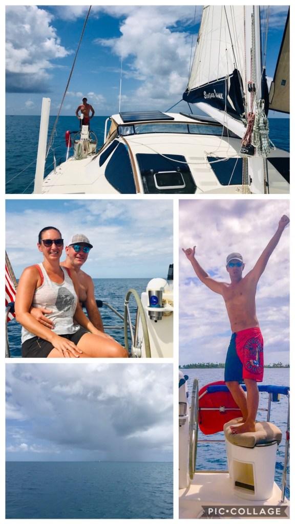 Full sail in the Fakarava lagoon