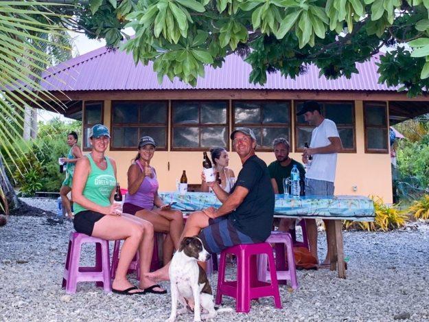 Teitelman's enjoying a beer at Pakaokota Yacht Services