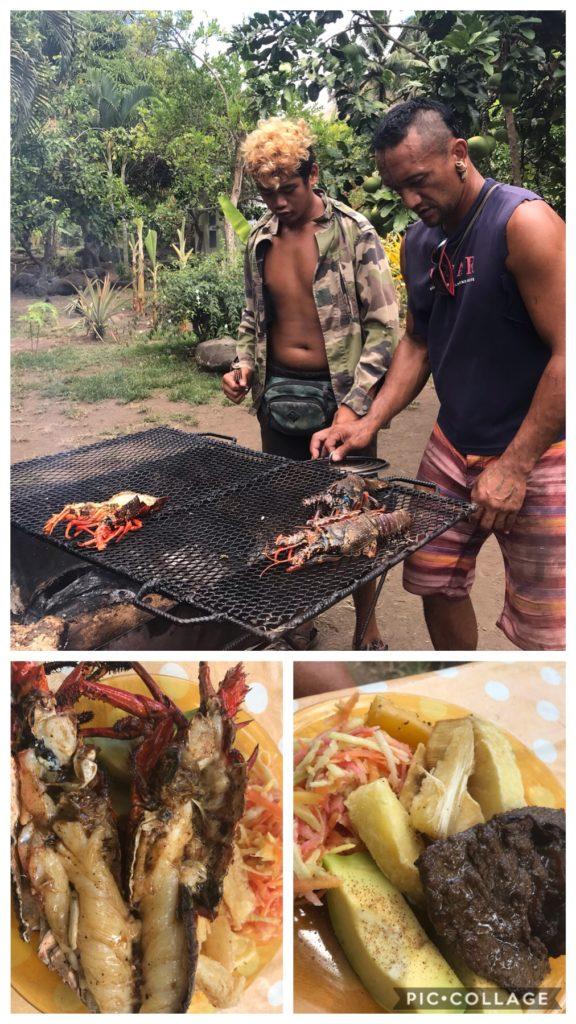 Lunch with Teiki and Kua