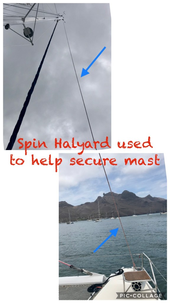 Spin Halyward bow to top of mast