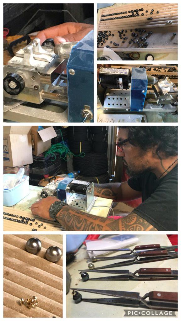 Dada creating some jewelry