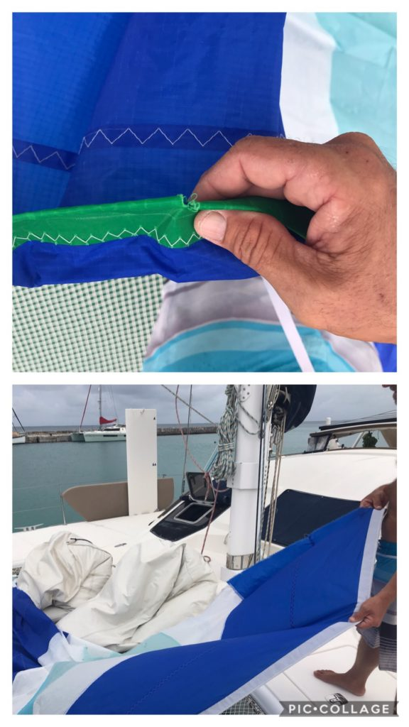 Small spinnaker ripped