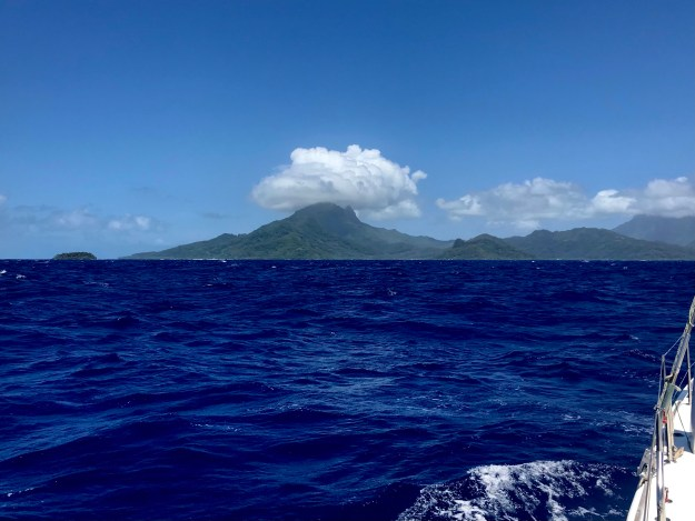 Raiatea wearing a cloud hat