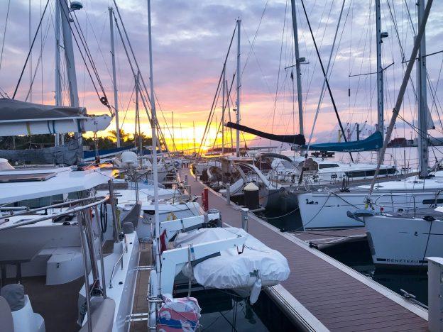 Marina Papeete Sunset