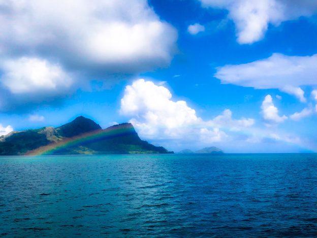 Rainbow across Mangareva