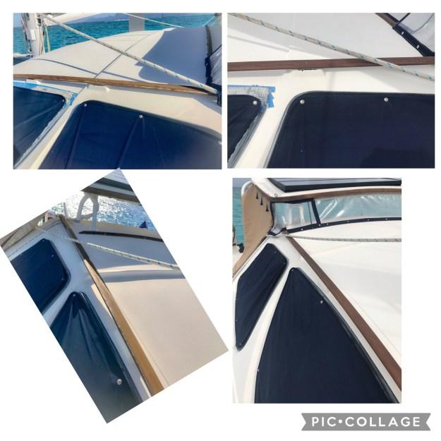 Cabin top hand rails