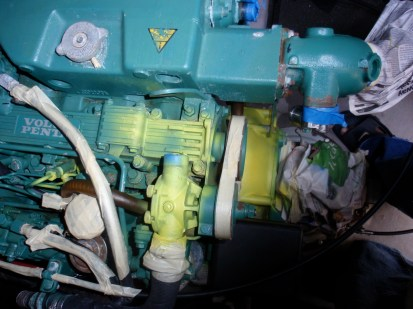 Starboard engine clean up