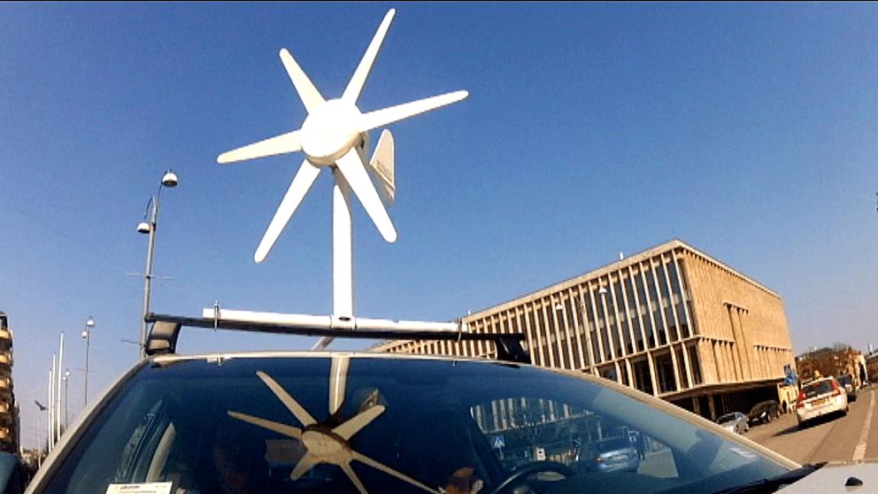 Med ett litet vindkraftverk på taket får man in direktverkande el