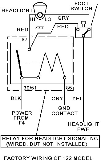 wiring diagram for flasher relay castle layout headlight control upgrade