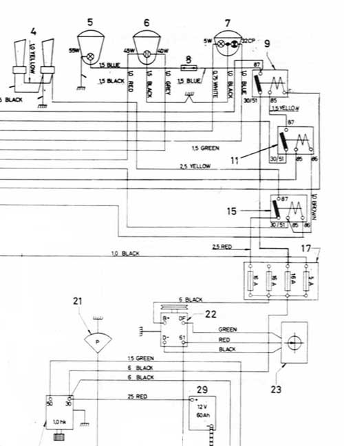 wiring diagram for driving lights mitsubishi lancer 1992 sw-em fuses, allocation and troubleshooting