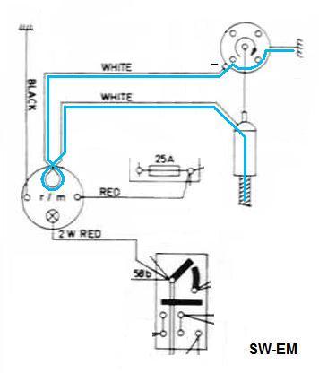 marine tach wiring diagram mile marker atv winch impulse tachometer great installation of sw em smith s rh com vdo