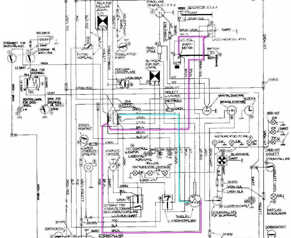 medium resolution of 1965 volvo 122  wiring diagram