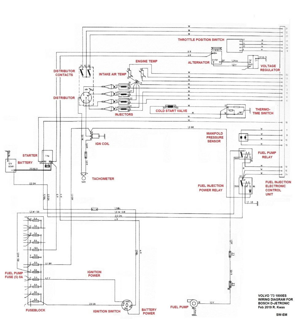 medium resolution of  73 1800es fuel injection wiring diagram late system with thermo time switch for mixture enrichment 72 73