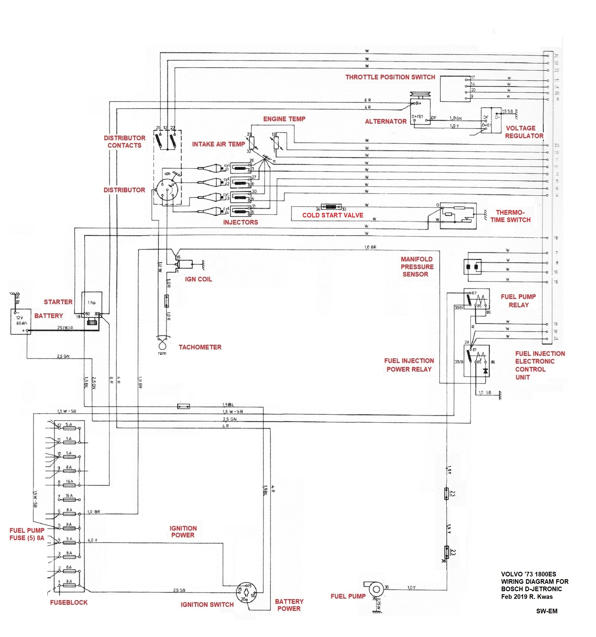 hight resolution of  73 1800es fuel injection wiring diagram late system with thermo time switch for mixture enrichment 72 73