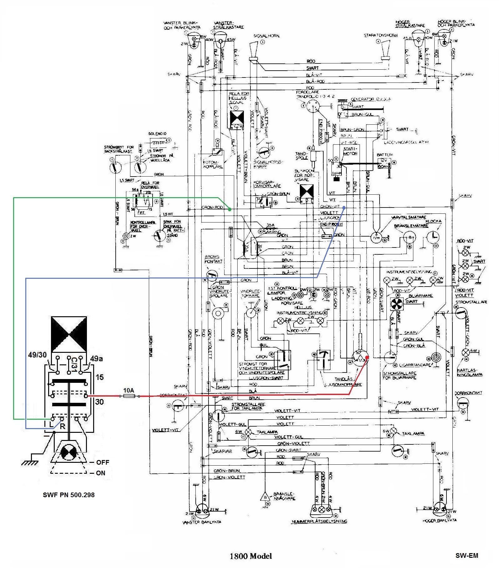 emergency key switch wiring diagram 92 honda prelude stereo sw em flasher