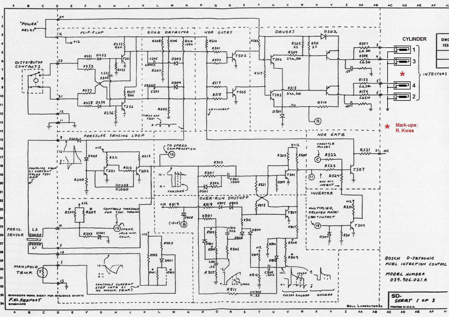 hight resolution of sheet 1 timing logic tl pressure sensing loop pl over run shutoff os injection logic il switching logic sl and output drivers d1 d2