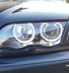 angel eye headlights 3er bmw e46 sedan 4doors 98 01 high led halo rims black [ 1200 x 790 Pixel ]