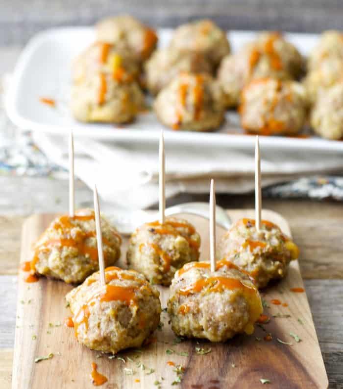 Skinny Cheddar Stuffed Meatballs- Prep baby meal prep series!