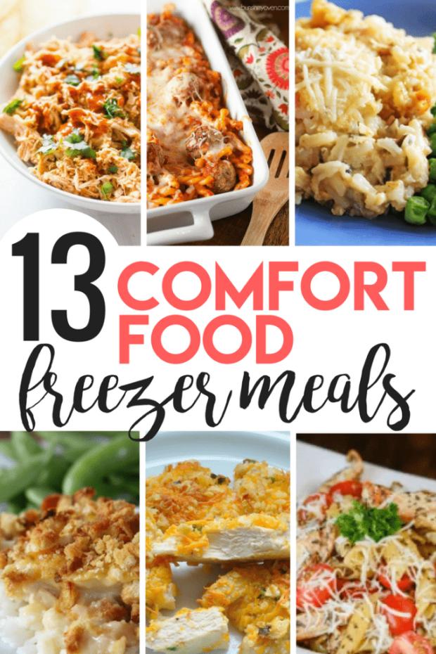 13 Comfort Food Freezer Meals
