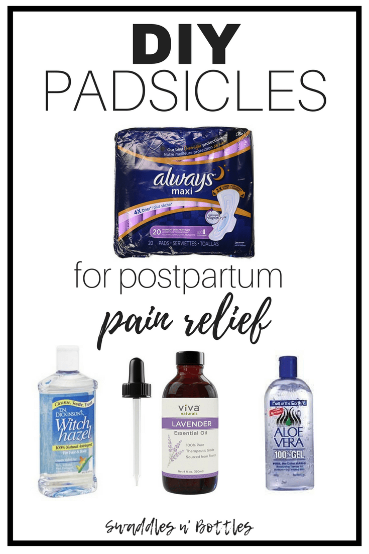 "How To Make a ""Padsicle"" For Post Delivery Pain Relief"