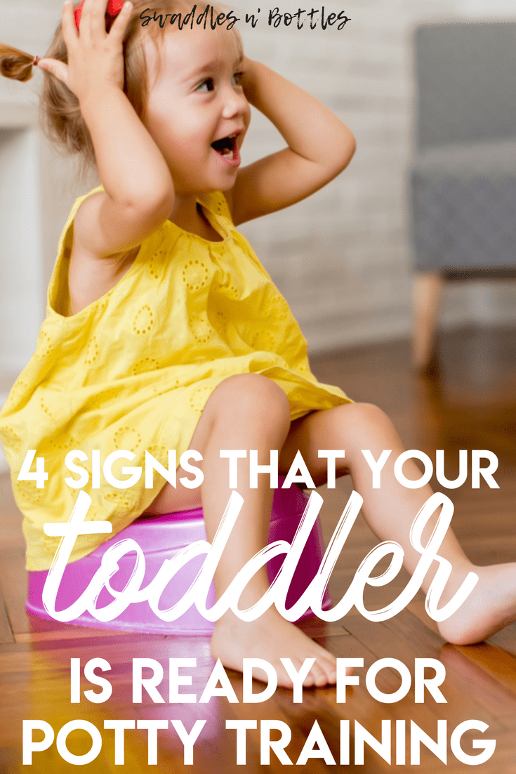 Ready to ditch the diapers? I feel ya! But what's really important is if your toddler is ready! Here's a list of the signs to look out for to see if it's time to start potty training!