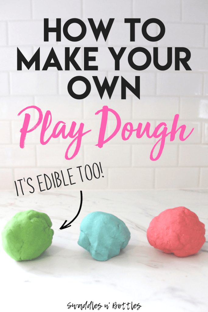 Homemade Play-Doh (It's Edible Too!)