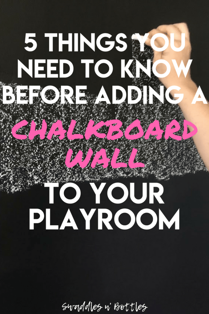 DIY  Playroom Chalkboard Wall