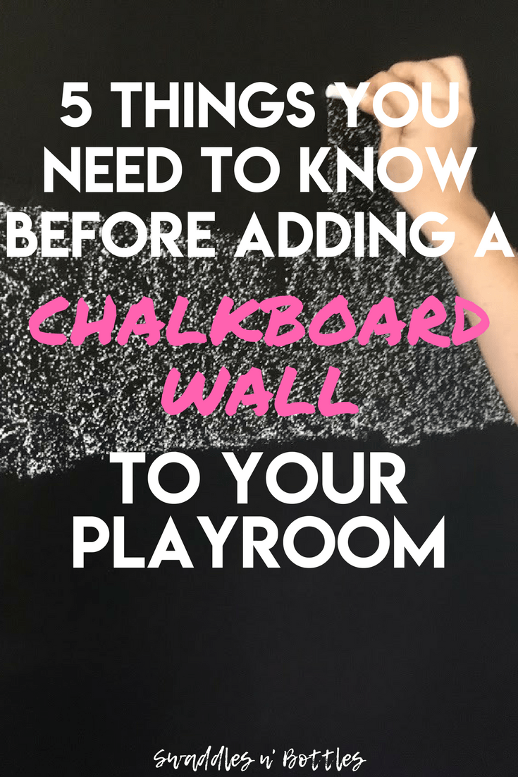 5 things you must know before adding a chalkboard wall to your playroom. We avoided some big #fails while upgrading our daughters playroom and adding a chalkboard wall!