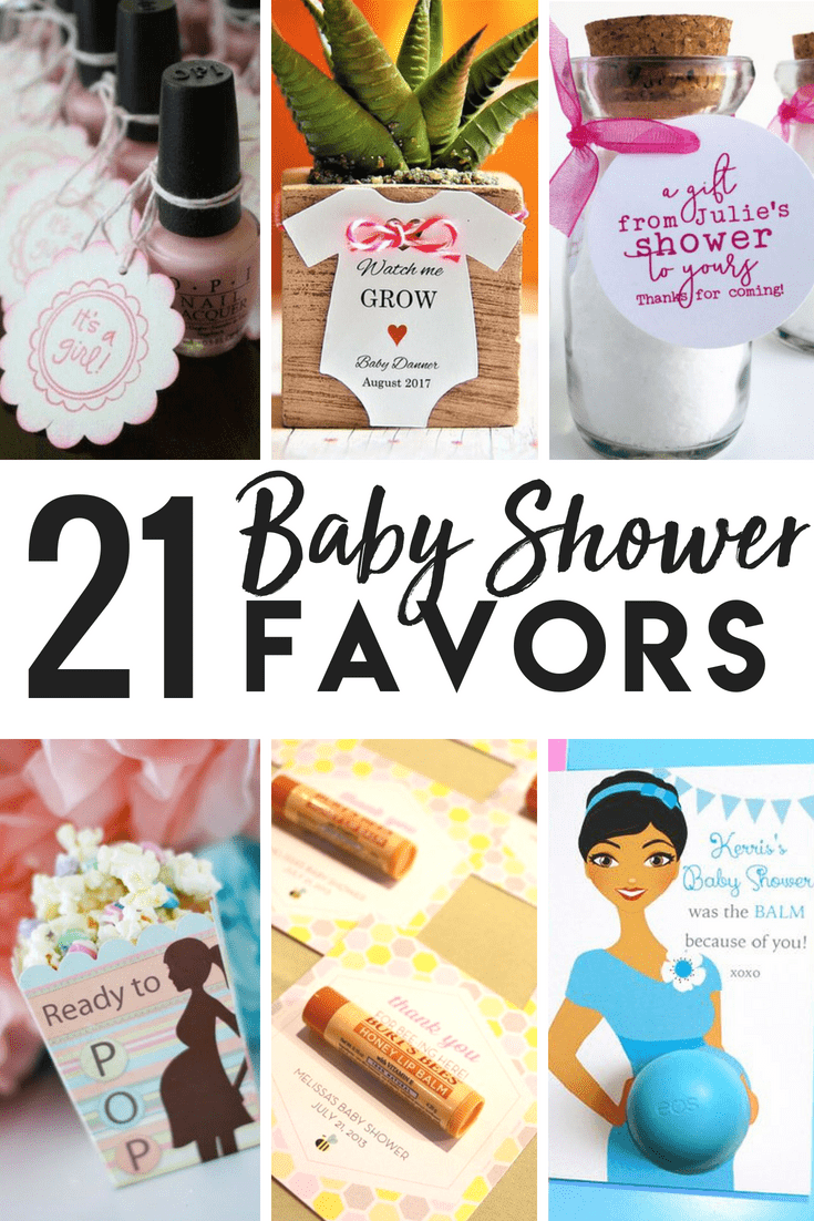 21 ideas for baby shower thank you gifts and favors. A ton of DIY gift ideas for your baby shower guests and hostess!