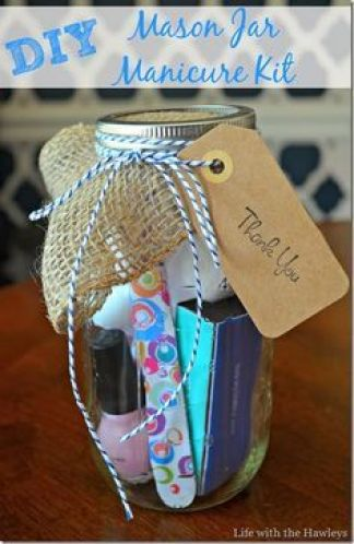 Baby shower favor ideas swaddles n bottles mason jar manicure set a great thank you gift for you baby shower guests solutioingenieria Image collections