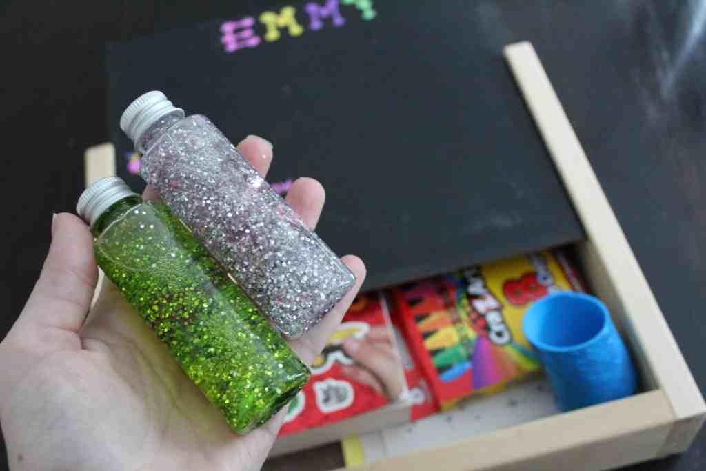 Mini sensory bottles for our toddlers restaurant kit!