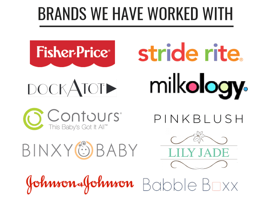 Brands we have worked with at Swaddles n' Bottles