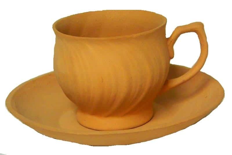 earthen tea cup plate