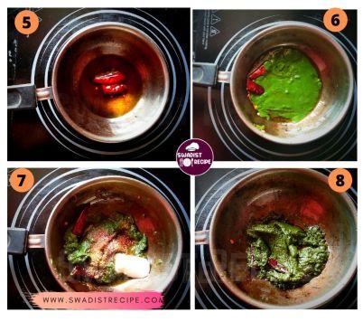 Sahajan saag Recipe Step 2