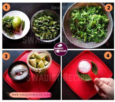 Kacche aam pudine ki chutney Recipe Step 1