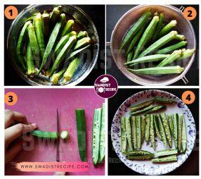 Kurkure bhindi pakode Recipe Step 1